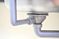 Lavandino del metallo Fotografie Stock
