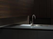 Lavandino di cucina superiore di marmo Immagine Stock