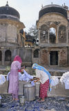 Lavando in India Fotografie Stock