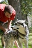 Lavando o cão Fotografia de Stock Royalty Free