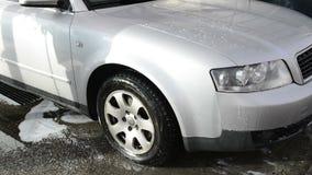 Lavando o carro video estoque