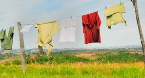 Lavando sulla riga no.1 Fotografia Stock