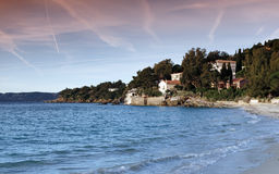 Lavandou coast Stock Images