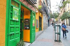 Lavapies, Μαδρίτη Στοκ Εικόνες