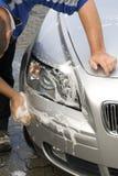Lavar el coche Imagen de archivo libre de regalías