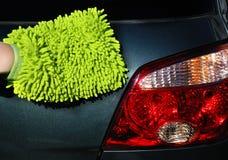 Lavar un coche Fotografía de archivo