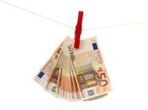 Lavare e di soldi Fotografia Stock