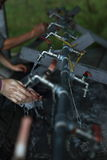 Lavare le mani Fotografia Stock Libera da Diritti