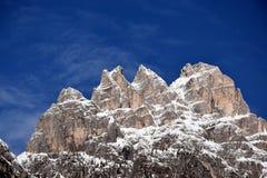 Lavaredo三个峰顶,美好的风景, Dolomiti山,意大利 免版税库存照片