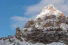 Lavaredo峰顶 库存照片