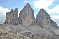 Lavaredo peaks Royalty Free Stock Photography