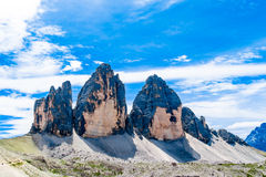 Lavaredo Tre Cime di Lavaredo三峰顶  免版税库存图片