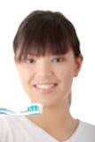 Lavarse los dientes Imágenes de archivo libres de regalías