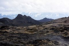 Lavas field in the geothermal valley Royalty Free Stock Image