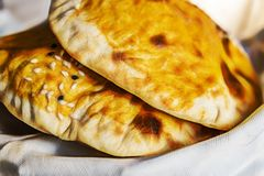 Lavash bread for traditional turkish flavor kebab royalty free stock photography