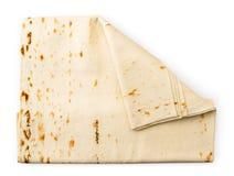 Lavash chleb na bielu Forma wierzcho?ek obrazy stock