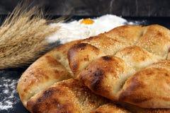 Lavash con la crosta marrone dorata, cucinata di recente Immagine Stock Libera da Diritti