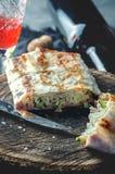 Lavash cucinato in uno stile rustico fotografie stock libere da diritti