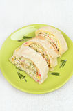 Lavash rolls with crab meat, cheese,eggs and herbs Royalty Free Stock Photography