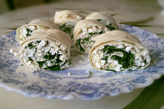 Lavash rolls Stock Photography
