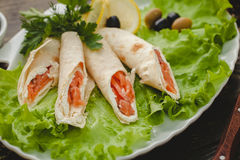 Lavash rolls Royalty Free Stock Photography