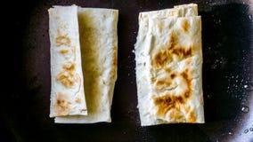 Lavash-Sandwich Dünnes armenisches Brot Stockbilder