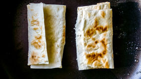 Lavash sandwich. Thin Armenian bread Stock Images