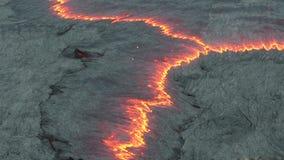 Lavastroom van Volcano Erta Ale stock videobeelden