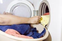 Lavata della lavanderia Fotografie Stock Libere da Diritti