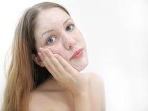 Lavata facciale Fotografia Stock