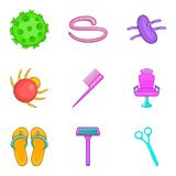 Lavatory icons set, cartoon style. Lavatory icons set. Cartoon set of 9 lavatory vector icons for web isolated on white background Royalty Free Stock Photo