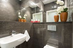 Lavatory in modern house Royalty Free Stock Image