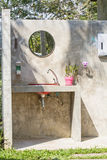 Lavatory and toilet open air. In garden Royalty Free Stock Image