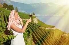 Lavaux, die Schweiz Stockfotos