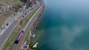Lavaux est une région dans le canton de Vaud en Suisse banque de vidéos