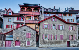 Lavaux, Swtzerland Medieval Building. Medieval buildings at the edge of the famous Lavaux, Switzelrand vine hill terraces Royalty Free Stock Photography