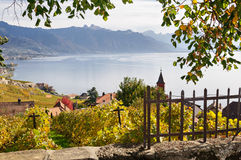 Lavaux village. Village near Lake of Geneva in Switzerland Stock Photo