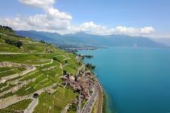 Lavaux, Zwitserland Stock Foto's