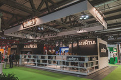 Lavazza stand at Tuttofood 2015 in Milan, Italy Royalty Free Stock Image
