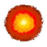 Lave abstraite de feu de broussailles Photo libre de droits