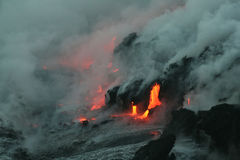 Lave flow 4. Kilauea volcano lava flow, Hawaii Stock Images