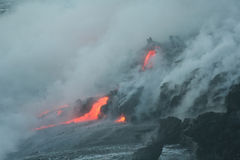 Lave flow 6. Kilauea volcano lava flow, Hawaii Stock Photography