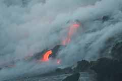 Lave flow 7. Kilauea volcano lava flow, Hawaii Stock Image