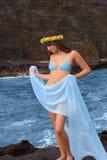 lave japonaise hawaïenne de fille photos stock