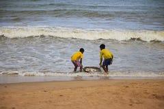 Lave los pescados en el mar Fotografía de archivo