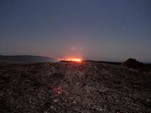 Lave See Erta-Ale nachts stockfotografie