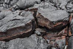 Lave solidifiée d'Hawaï photographie stock