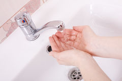 Lave suas mãos foto de stock