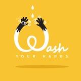 Lave suas mãos ilustração royalty free