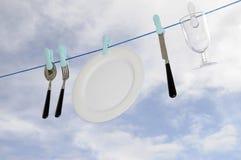 Lave-vaisselle respectueux de l'environnement - la pluie. Image stock